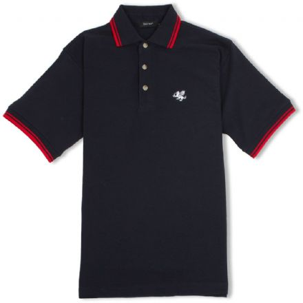 Senlak Tipped Polo Shirt - Navy/Red